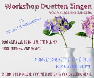 Workshop Duetten Zingen